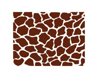Giraffe SVG Giraffe Print SVG Giraffe Pattern SVG Cutting Template Vector Clip Art Cricut Cameo Silhouette