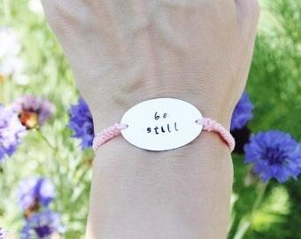 Peach Be Still Friendship Bracelet
