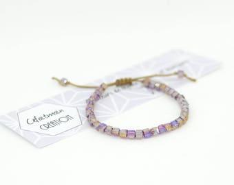 Bracelet pink sparkly beads