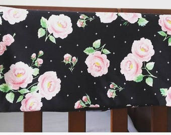 Floral Swaddle Blanket with matching headband