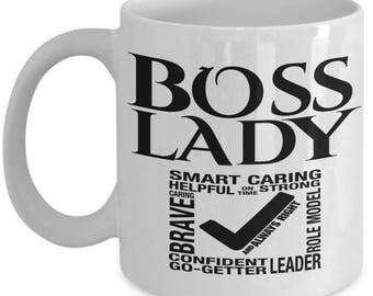 Boss Lady Coffee Mug, Gift for Boss lady, Boss lady Mug, Funny Boss lady Mug, Boss lady gifts, Funny Coffee Mug