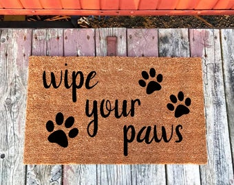 Dog Doormat Etsy