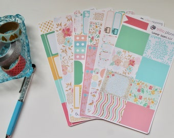 Summer Blossoms - Erin Condren Vertical Weekly Kit