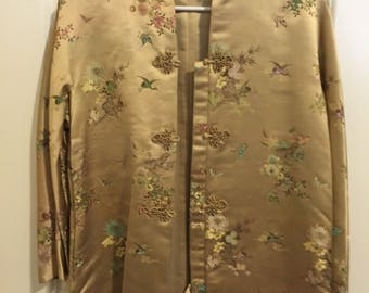 Vintage 1960s Dynasty Silk Jacket Made in Hong Kong A British Crown Colony