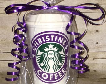 A personalized Starbucks customized cup sc1174