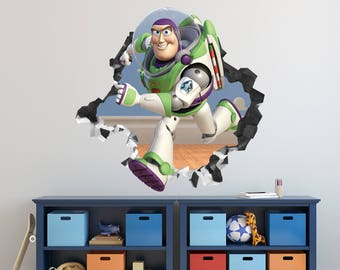 Toy Story Buzz Lightyear Movie Wall Decal   Toy Story Smashed Sticker    Kids Movie 3D Part 68