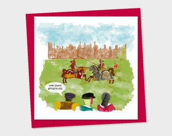 jousting at hampton court – that's going to nip