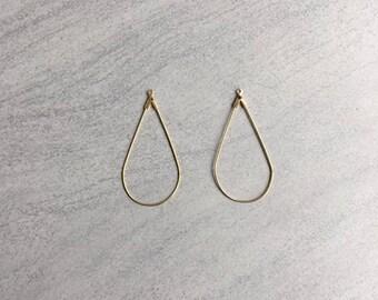 Set of 2 medium earrings drop 45mm