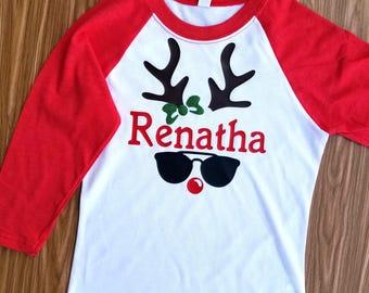 Deer Holiday shirt |  Deer Boy shirt |  Deer Shirt | Christmas Deer Shirt | Boys Christmas Shirt | Holiday Shirt | Boy Shirt