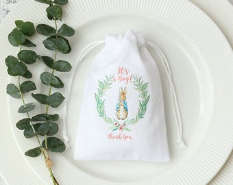 10 custom Logo name tagline brand printed drawstring bags white cotton pouches Personalized Baby Shower favor Bag jewelry packaging bags