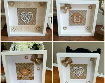 Shabby Chic Deep Box Frames  - A lovely Gift