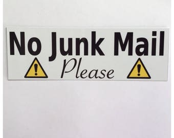 No Junk Mail Accepted Sign Tin Plaque Letter Box Business Home