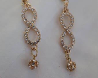 Gold Infinity Earrings