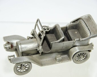 Danbury Mint Pewter Car Collection 1909 Cadillac 30 Tourer Model Car