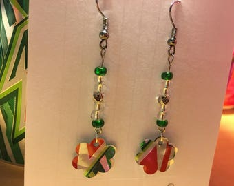 "Mountain Dew Earrings ""Up-Cycled"""