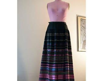 1990s high waisted silk skirt