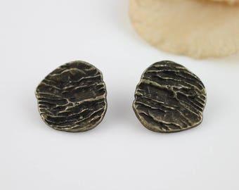 6pcs Antique Bronze  Button, Metal Button 20x19x6mm