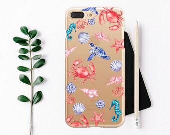 Case iPhone 7 Sea turtle iPhone 7 Plus Case iPhone 6 / 6s / 6 Plus Case, iPhone 5s / SE / 5 Case, Hard plastic/ rubber case.