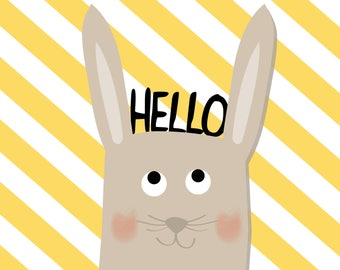 """Poster """"Hello"""" baby room decoration"""