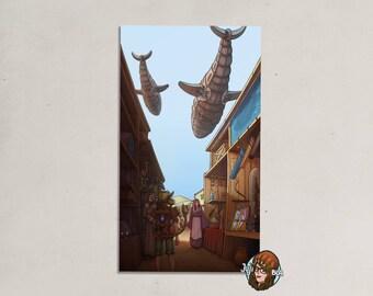 NITAS adventure - dune - art print - 10,5 x 18, 5 cm - map