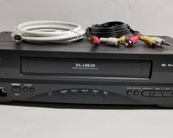 Sylvania 6240VD VCR Player VHS Recorder 4 Head HiFi Stereo