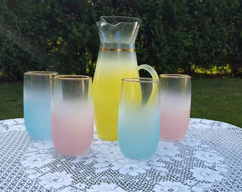 BLENDO ware mixed colored bar set
