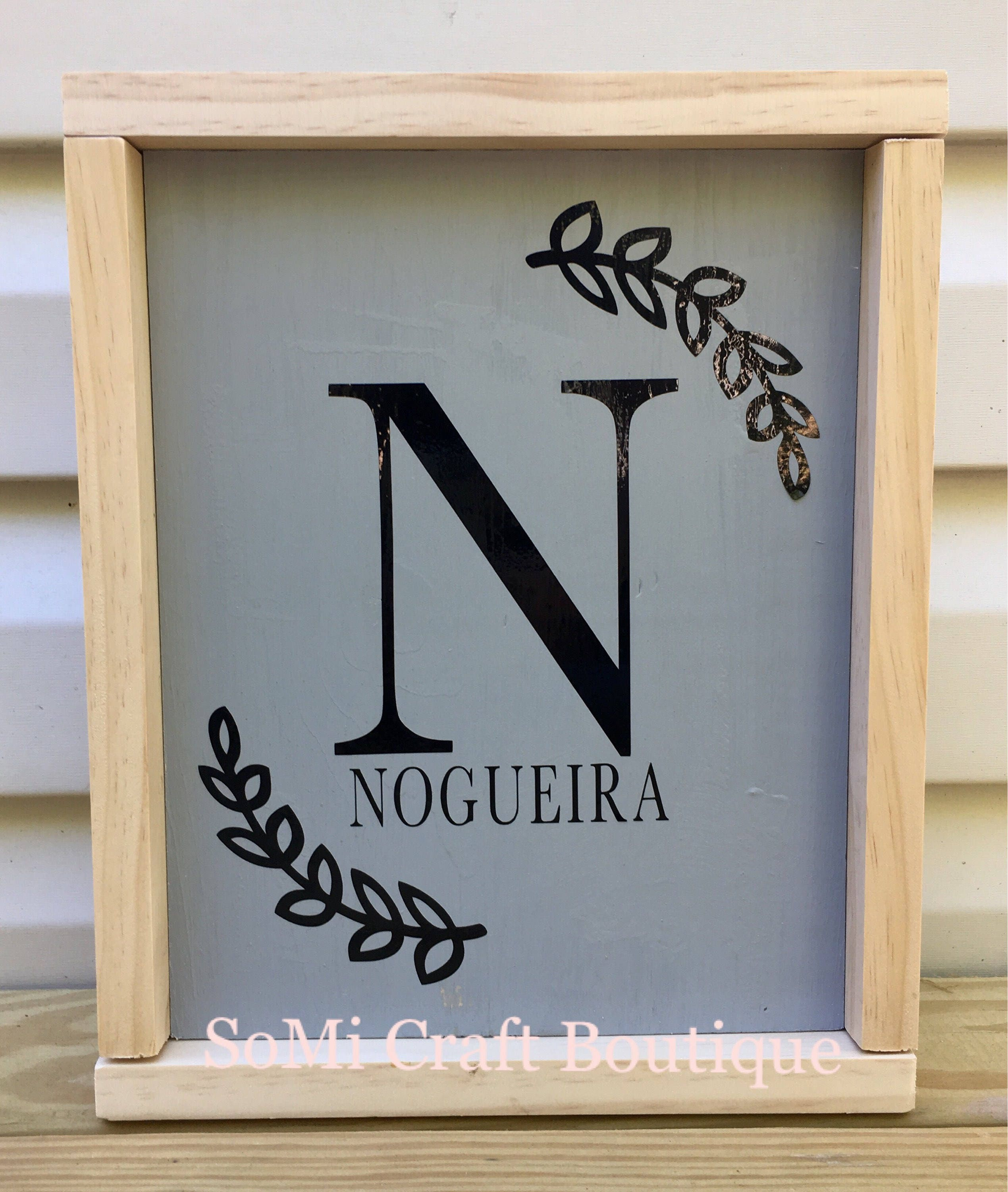 Personalized Monogram Wedding Gift Farmhouse Rustic Shabby