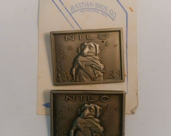 Vintage Pinback Button - Nilo Hunting Dog Pins