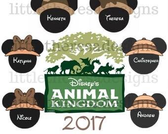 Animal Kingdom Family Vacation Transfer,Digital Transfer , Digital Iron On ,DIY