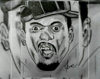 """BLACK-M"" original pencil portrait"