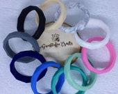 Geometric Moulded Silicone Bracelets/Bangles