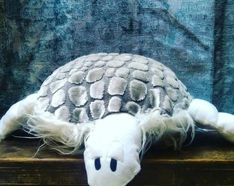 Multi-colored turtle plush
