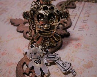 Brass Monkey Aromatherapy Pendant