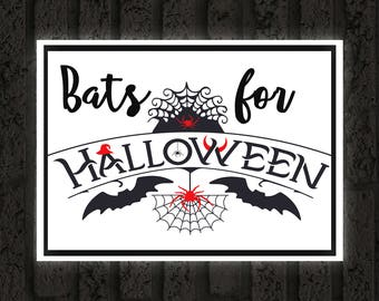 Halloween Printable /Bats for Halloween / Ready to Print Digital Download / Size 8x10 300 DPI / Halloween Wall Art and Printable