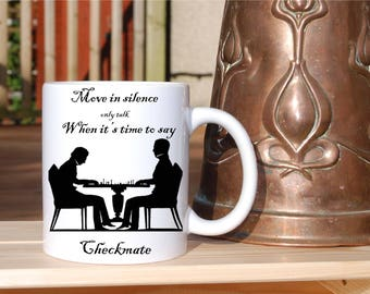 Chess players Mug! A must have for anyone who plays chess......and drinks hot beverages! Checkmate people.