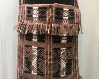 Woven cross body bag from Ecuador. Bohemian, hippie.