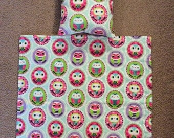 Doll Blanket and Pillow. Fits up to 18in Dolls such as American Girls dolls and many more