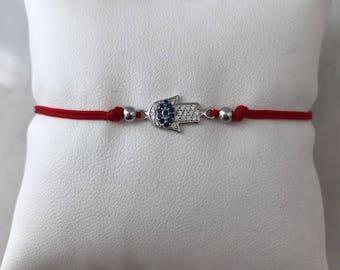 Red Hamsa Bracelet