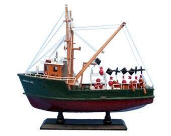 "Andrea Gail ""The Perfect Storm"" 16″ Ship Wooden Model - Made of Mahogany Wood"