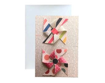 Blank Greeting Card, Flat Cards designed to look 3D