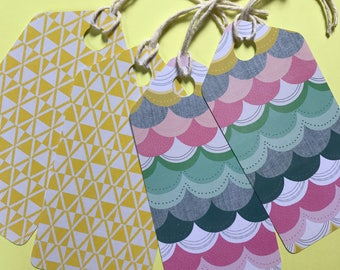 Gift tags - Handmade tags - Large tags - Multicolour tags - pack of 4