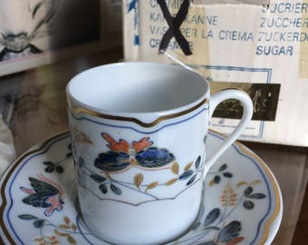 Limoges & Co Reynaud Demitasse Butterfly Cup and Saucer