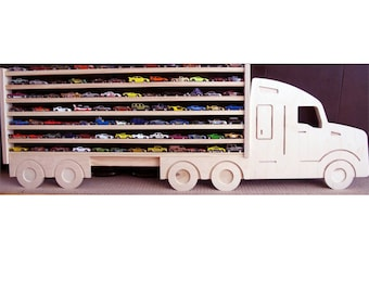 Hot Wheels and Matchbox Semi Truck Shelf - Holds 80+ cars!  Ready to Ship!