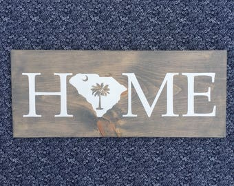 Home - South Carolina - Wood Sign
