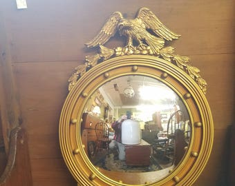 Vintage Federal Style Convex Birdseye Mirror