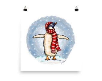 Winter Penguin Poster