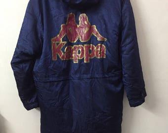 SALE ! Vintage KAPPA parka/jacket spell out logo big logo size L