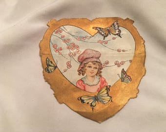 Antique children's valentine greeting card - Whitney Made