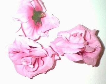 12 Open Silk Rose Blooms, Rose Heads, Home Decor, Weddings , Silk Flowers  Etc.