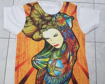 Japanese Tattoo t shirt surreal psychedelic vintage retro design unisex top and t shirts